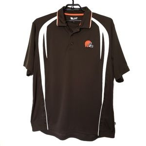 NFL Team Apparel Cleveland Browns Polo Top XL
